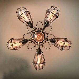 Northern American Retro Iron Pendant Light with 6 lights