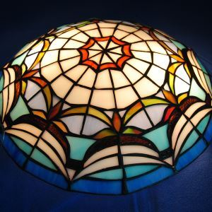 Retro Tiffany Ceiling Light with 2-lights