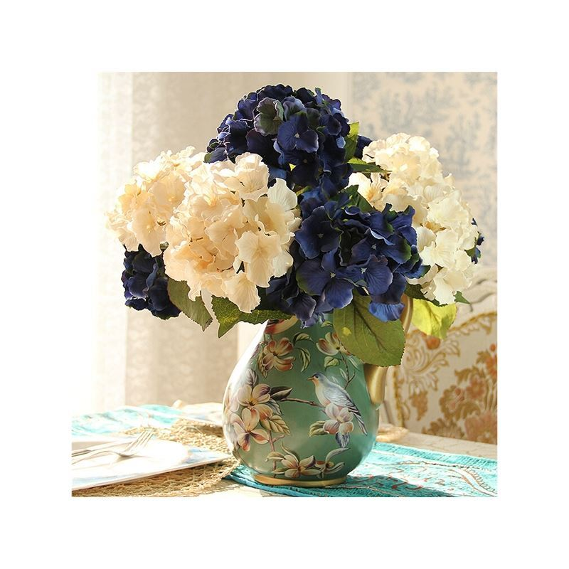 home decor floral arrangements european hydrangea silk