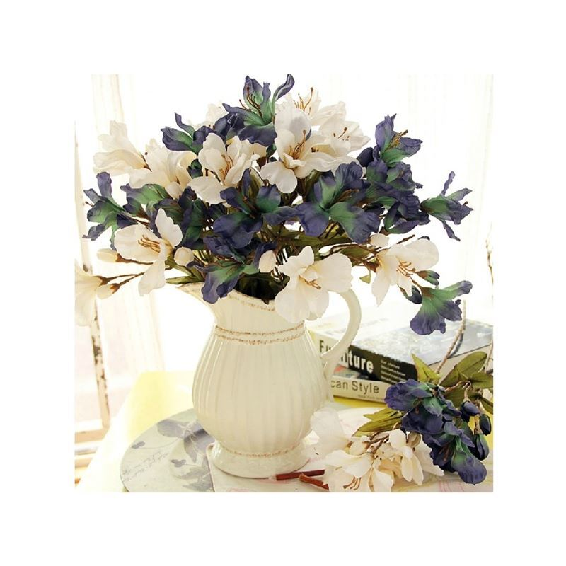home decor floral arrangements lily silk flowers