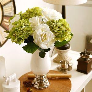 European Hydrangea Silk Flowers