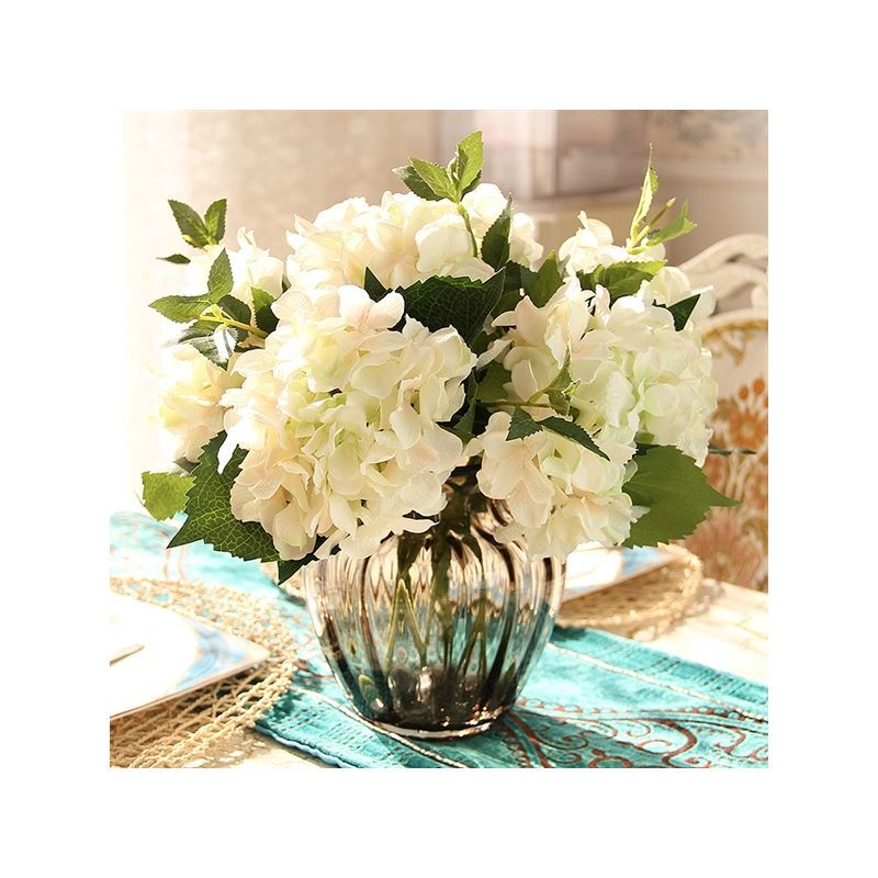home decor floral arrangements hydrangea silk flowers
