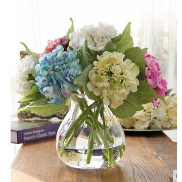 Home Decor Floral Arrangements Baroque Hydrangea Silk