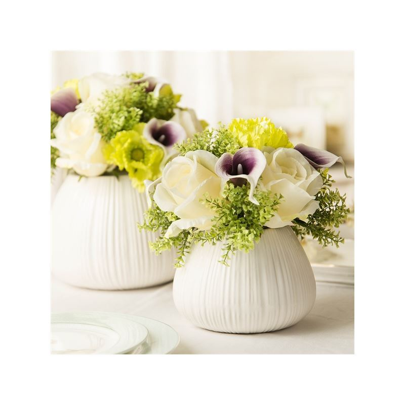 home decor floral arrangements calla silk flowers