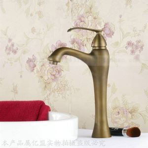 Antique Inspired Bathroom Sink Faucet - Polished Brass Finish