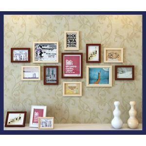 White And Black Photo Wall Frame set Collection-Set of 11