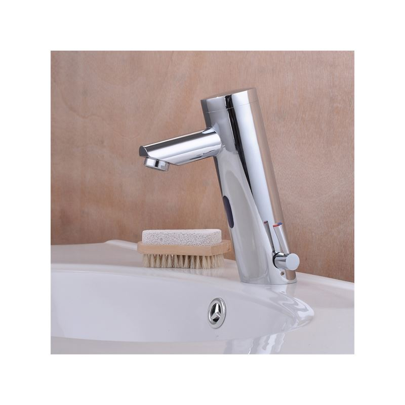 Faucets - Sensor Faucets - Contemporary Brass Bathroom Sink Faucet ...