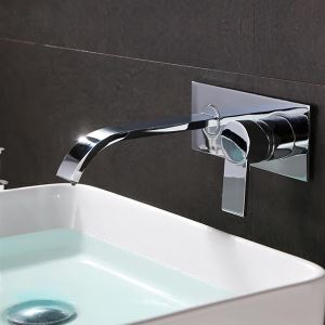 Waterfall Contemporary Bathroom Sink Faucet (Chrome Finish)