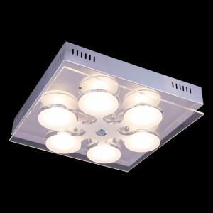 5-Light Modern Contemporary LED Glass Ceiling Light in Square Shape