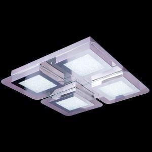 4-Light Modern Contemporary LED Crystal Ceiling Light in Square Shape Energy Saving