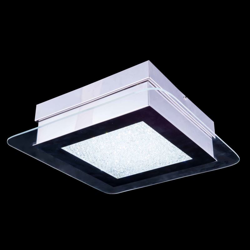 1-Light Modern Contemporary Mini LED Crystal Ceiling Light in Square Shape