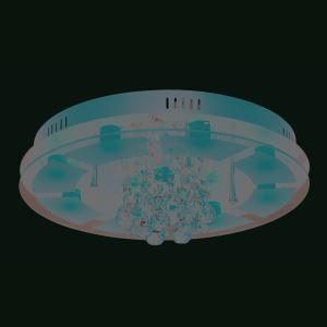 9-Light Modern Contemporary LED Ceiling Light in Round Shape