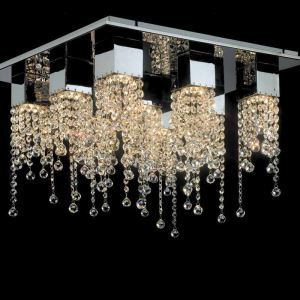 9-Lihgt Modern Contemporaray Crystal Ceiling Light