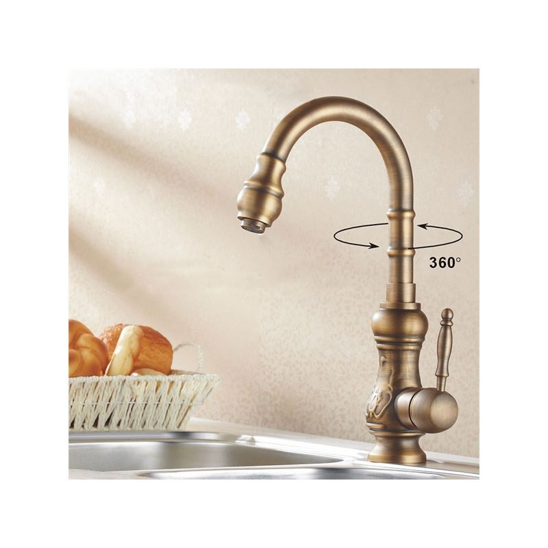 Faucets Kitchen Faucets Antique Brass Kitchen Faucet Antique Copper Finish