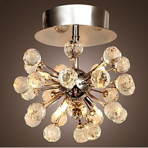 Modern K9 Crystal Chandelier with 6 Lights in Globe Shape