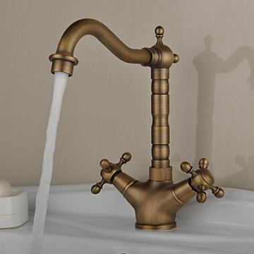 Antique Inspired Brass Kitchen Faucet Antique Brass Finish