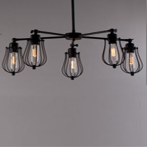 American Country Style Decorative Metal Pendant Light Edison Bulbs