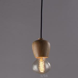 American Country Mini Style Decorative Wood Pendant Light