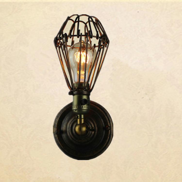 Metal wall lamp diy shade for Diy wall lamp shade