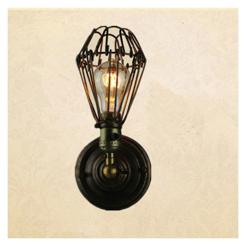 Wall Lamp Shades Diy : Metal Wall Lamp DIY Shade