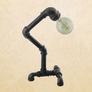 American Country Style Table Light Indoor Decorative Metal Table Lamp with Faucet Design