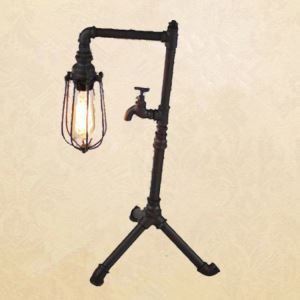 American Country Style Metal Table Lamp Creative Tripod Table Light