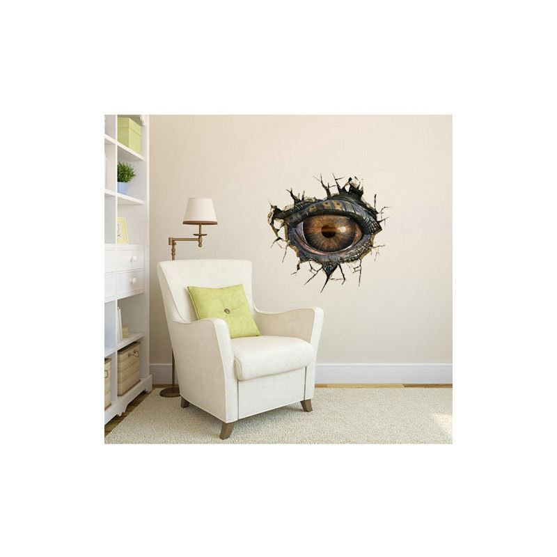 3D Wall Sticker Dinosaur Eye Decorative Wall Covering PVC Washable 3D Wall Art