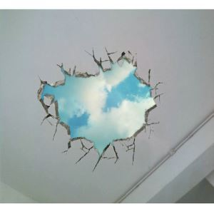 3D Wall Sticker Blue Sky and cloud Decorative Wall Covering PVC Washable 3D Wall Art