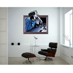 3D Wall Sticker Spaceman Decorative Wall Covering PVC Washable 3D Wall Art