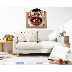 3D Wall Sticker Horrible Movie Eye Decorative Wall Covering PVC Washable 3D Wall Art
