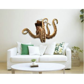 Home Decor   Wall Art   Wall Stickers   3D Wall Stickers   3D Wall Sticker  Octopus Decorative Wall Covering PVC Washable 3D Wall Art Part 71