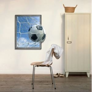 3D Wall Sticker Football Soccer Decorative Wall Covering PVC Washable 3D Wall Art