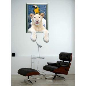 3D Wall Sticker Polar Bear Decorative Wall Covering PVC Washable 3D Wall Art