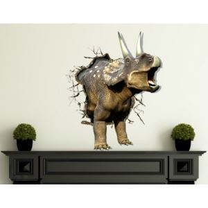 3D Wall Sticker Rhinoceros Decorative Wall Covering PVC Washable 3D Wall Art