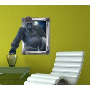 3D Wall Sticker Gorilla Decorative Wall Covering PVC Washable 3D Wall Art