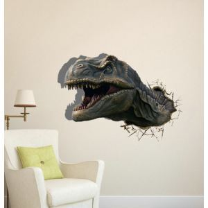 3D Wall Sticker Champsosaurus Decorative Wall Covering PVC Washable 3D Wall Art