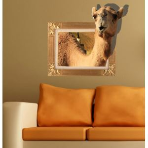 3D Wall Sticker Camel Decorative Wall Covering PVC Washable 3D Wall Art