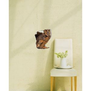 3D Wall Sticker Owl Decorative Wall Covering PVC Washable 3D Wall Art