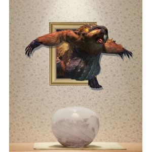 3D Wall Sticker Animal Decorative Wall Covering PVC Washable 3D Wall Art