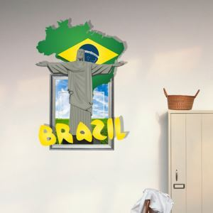3D Wall Sticker World Cup Decorative Wall Covering PVC Washable 3D Wall Art