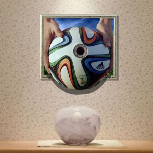 3D Wall Sticker World Cup Soccer Decorative Wall Covering PVC Washable 3D Wall Art