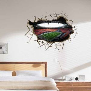 3D Brazilian World Cup Wall Sticker Decorative Wall Covering PVC Washable 3D Wall Art