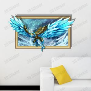 3D Wall Sticker Eagle Decorative Wall Covering PVC Washable 3D Wall Art