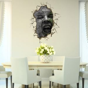 3D Wall Sticker Funny Faces Decorative Wall Covering PVC Washable 3D Wall Art