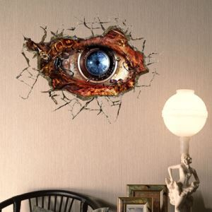 3D Wall Sticker Eye Decorative Wall Covering PVC Washable 3D Wall Art