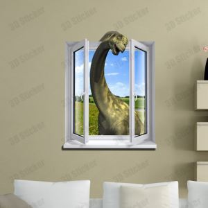 3D Wall Sticker Dinosaur Decorative Wall Covering PVC Washable 3D Wall Art