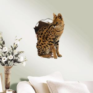3D Wall Sticker Kitty Decorative Wall Covering PVC Washable 3D Wall Art