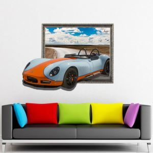 3D Wall Sticker Car Decorative Wall Covering PVC Washable 3D Wall Art