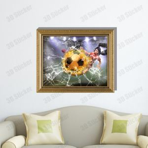 3D Wall Sticker Football in pieces Decorative Wall Covering PVC Washable 3D Wall Art