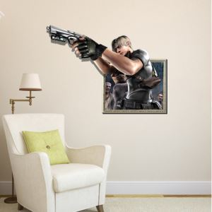 3D Wall Sticker Shooter Decorative Wall Covering PVC Washable 3D Wall Art